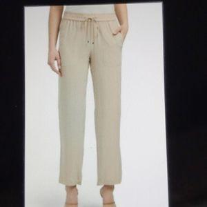 Theory silk Cortland pull-on pants. Size M New!